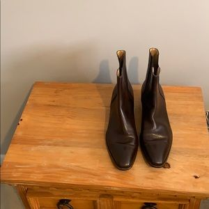 BEAUTIFUL BROWN LEATHER ANKLE BOOTS